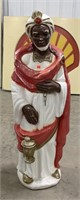 Blowmold nativity set African-American Wiseman