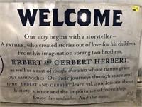 Elbert & C-Erbert Herbert Metal Sign