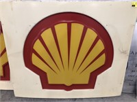 Plastic Shell Gas Station Display Signs