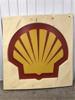 Large Plastic Shell Gas Station Display Sign