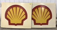Plastic Shell Gas Station Display Sign
