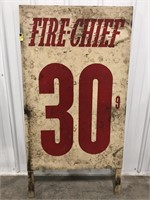 Fire Chief Gas Station Gas Value Display Sign