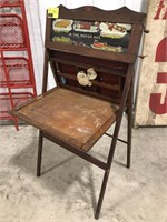 Vintage Kids Folding Chalk Board or Drawing Desk
