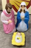 Blowmold nativity set figures