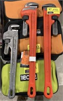 Ridgid 24in heavy pipe wrench and 18in aluminum