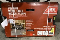 Ace hardware folding work table with clamps New