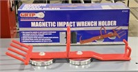 Magnetic impact wrench holder. Use on jobsite or
