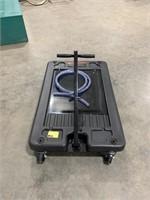 Low profile oil drain on wheels 17gal capacity