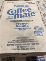 220 cases  of Nestle coffee-mate, french vanilla.