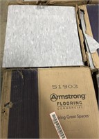 Armstrong commercial flooring tiles  (grey) each