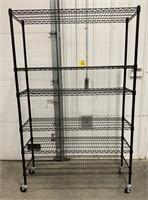 6 self storage rack on wheels.