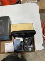 Box lot action camera, wireless headphones and