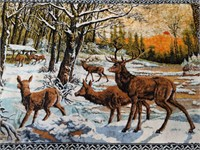"Outdoors themed tapestry 71"" by 46"""