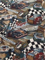 "Roll of NASCAR theme Fabric 55.5"" tall"