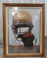 Framed Notre Dame signed picture