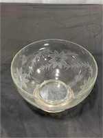Clear Crystal Fruit Bowl w/ Sterling Base