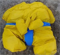 Set of Sumo suites with sets of gloves, hats and