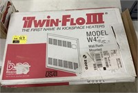 Twin Flo 3 kickspace wall flush heater box