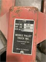 Mobile pallet truck inc pallet jack 5500lb