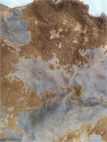 """Buffalo hide measures 58"""" by 52"""" has large"""