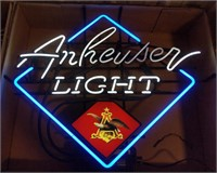 """""""Anheuser Light"""" light up neon sign"""