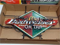 """""""Budweiser On Tap"""" neon sign"""