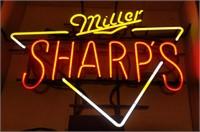 """""""Miller Sharp's"""" neon lighted sign"""