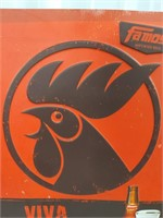 Famosa imported beer embossed tin advertising