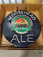 """""""Moosehead Ale Blu Boar"""" light up neon sign"""