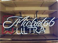"""Michelob Ultra"" light up neon sign"