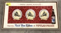 Pabst Blue Ribbon Tripple Crown Winners Sign