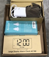 Box lot alarm clock, suction cup, power bank