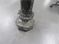 """Solid Marble 37"""" Green Pedestal  Heavy NICE 2pcs"""