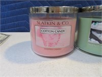 Lot (2) NEW Slatkin Candles MintChoc & CottonCndy