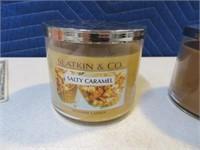 Lot (2) New Slatking Candles Leaves & Slt Crml