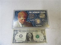 JF Kennedy Years 3coin 1/2 Dollar MINT Set