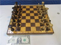 "Beautiful HandCarved 13"" Chess Set"