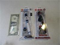 Mint LEGO StarWars DarthMaul & R2D2 Pen Sets
