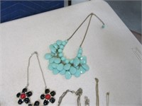 Lot (12) Women's Jewelry TopOfDresser NecklacesPin