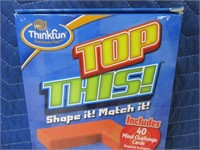 New ThinkFun TOP THIS Board Game MindShapes