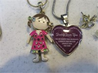 Lot (5) Girl's Jewelry Necklaces Earrings