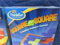 Lot (2) NEW ThinkFun SquareBySquare Games