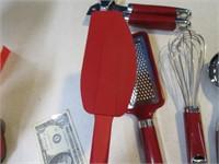 Lot (6) NEW KitchenAid Red Kitchen Utensils $$$$
