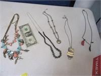 Lot (5) Nice Modern Women's Necklaces Jewelry