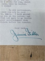 1947 Jimmi Fidler Letter to Monti Wooley