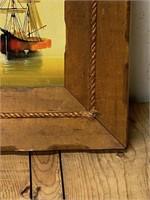 Framed Signed Marini Painting on Canvas