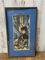 "Singed Jules ""Young Musician"" Framed and"