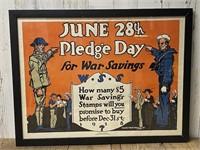 June 28th Pledge Day for War Savings