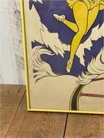 Clyde Beatty Circus Framed Circus Poster