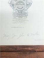 Major General John G Foster Cabinet